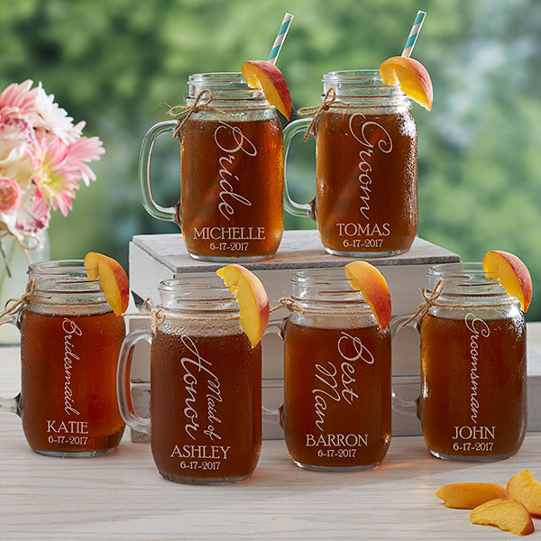 mason jars bridesmaid gifts