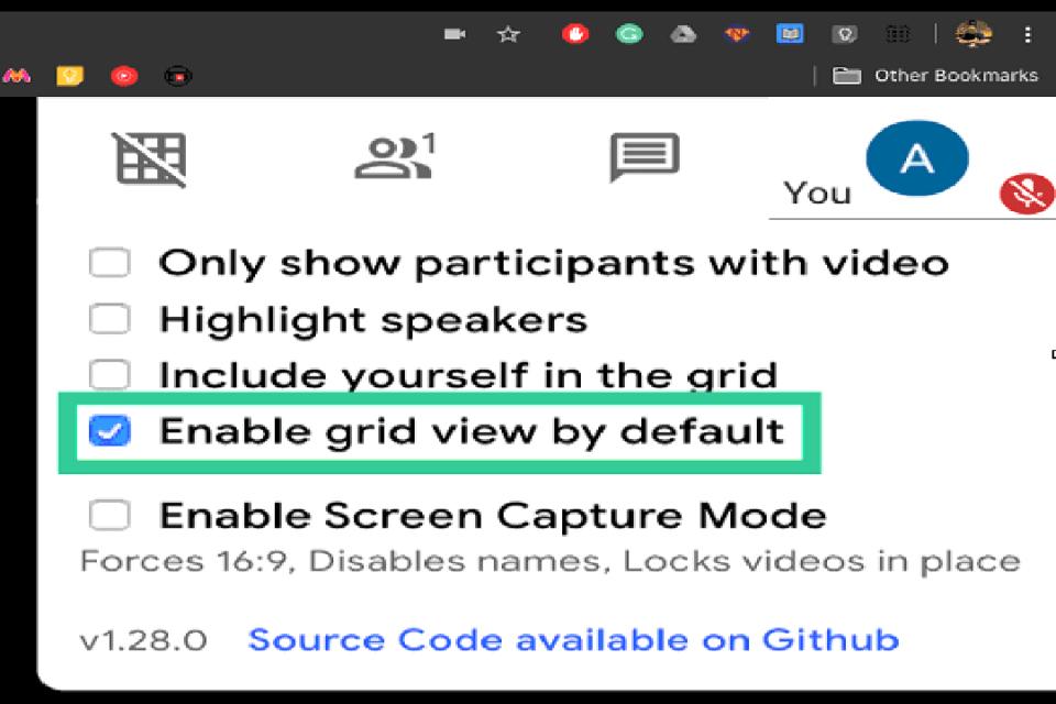 Image of google meet grid step 4