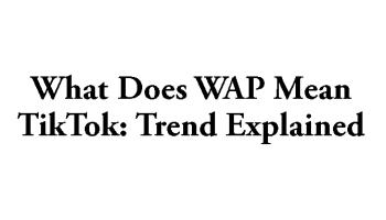 What does WAP mean TikTok