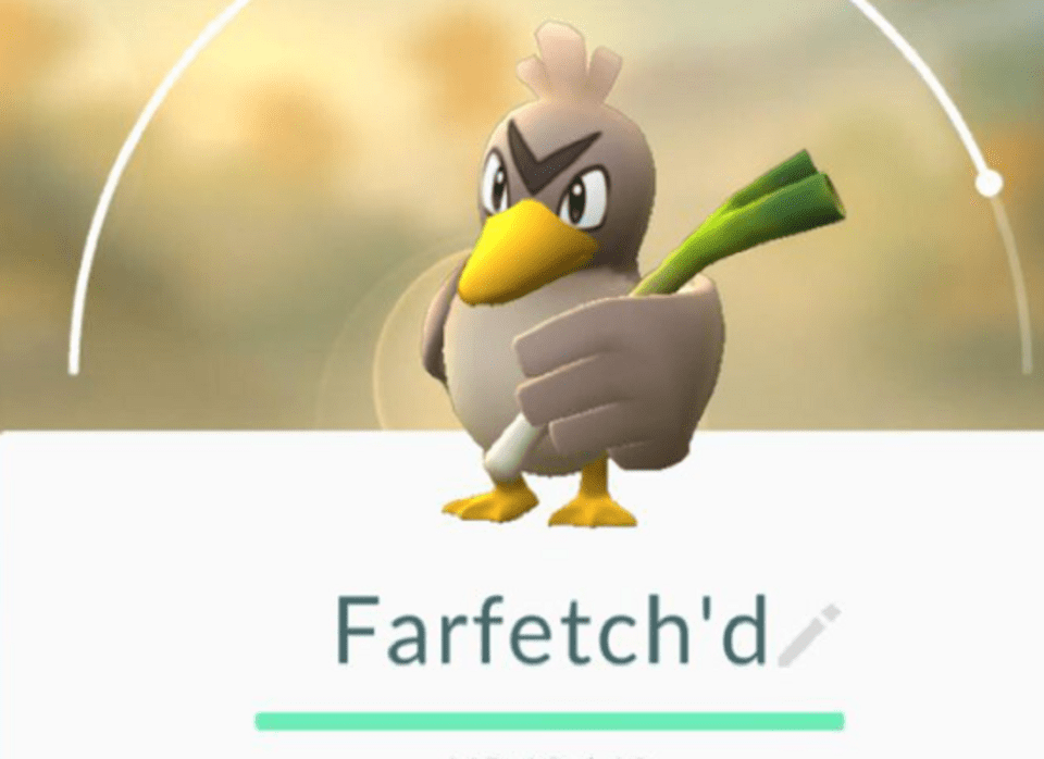 Image Of What Is Finish A Challenge With Farfetch'd