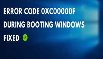 Error Code 0xc00000f