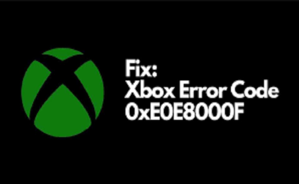 Image Of How To Fix Xbox Error Code 0xe0e8000f