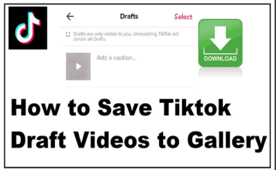 Image Of How To Save A Draft On TikTok To Camera Roll