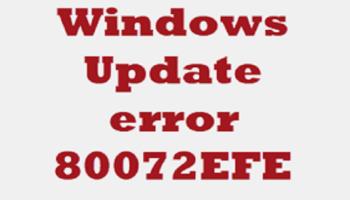 Windows Update Error 80072efe