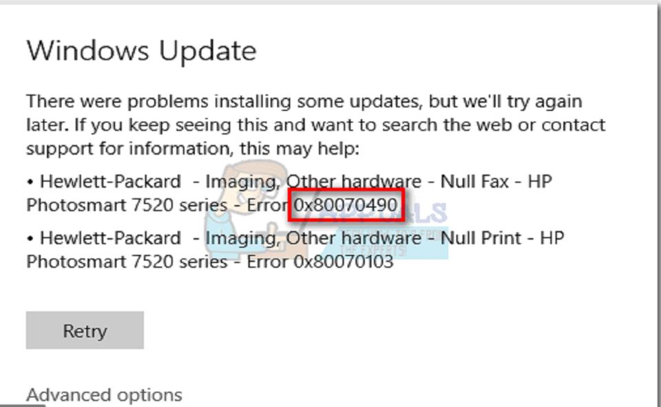 Image Of How To Fix Error Code 0x80070490
