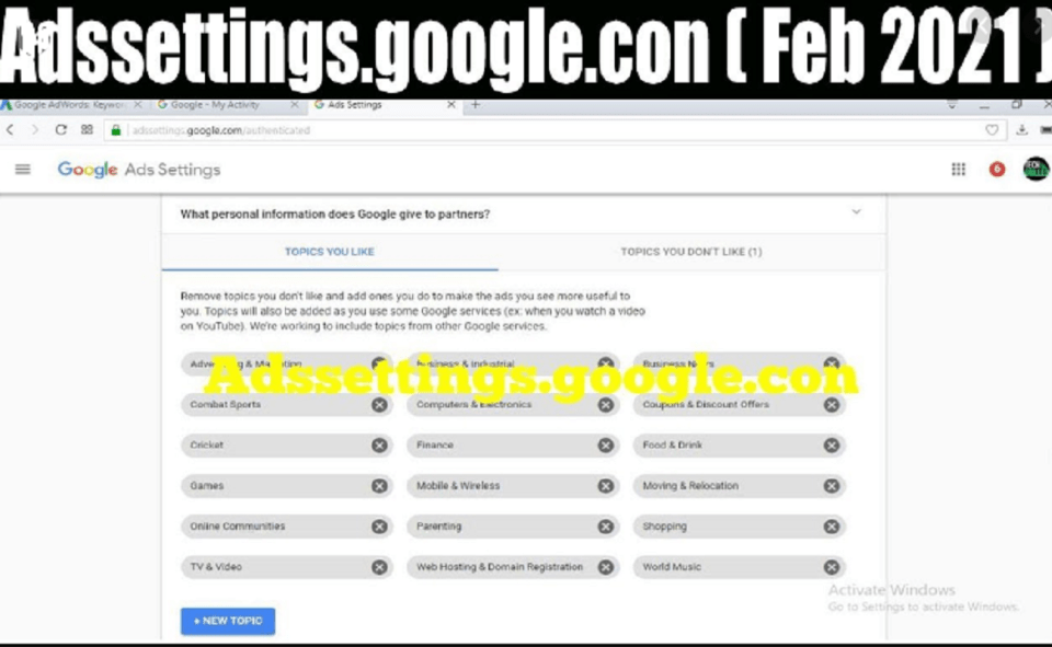Image Of Why One Should Use  Adssettings.Google.Con