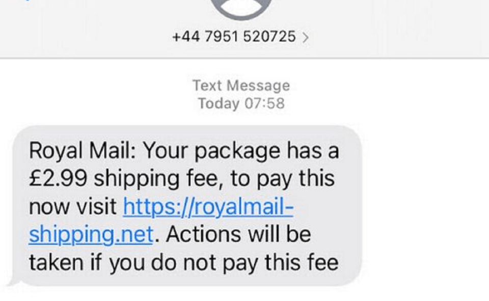 Image Of What Is Royal Mail Text Scam