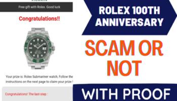 Rolex 100th Anniversary Scam