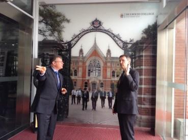 Professor Balmer with Mr John Todd