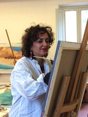 Brunella Marcelli dipinge