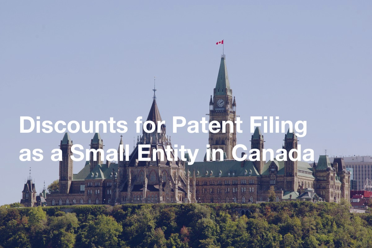 Discounts for Patent Filing as a Small Entity