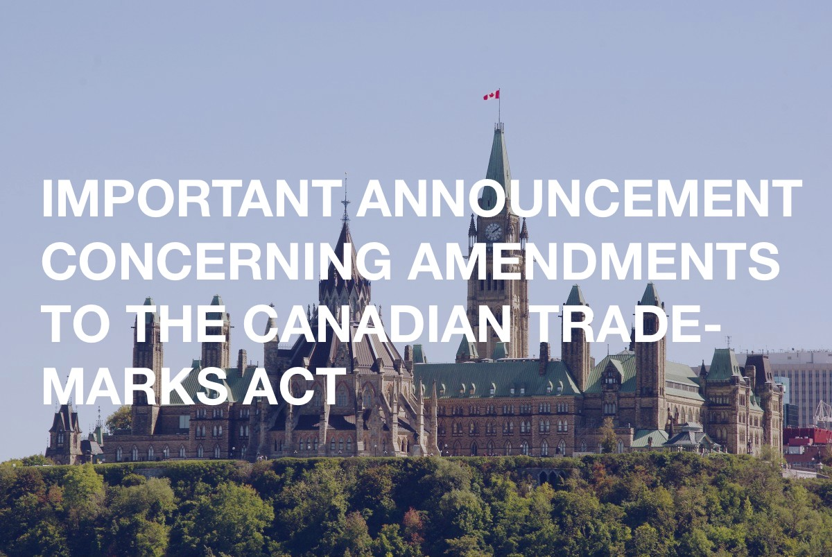 Canadian trademarks act changes
