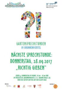 Flyer Gartensprechstunde