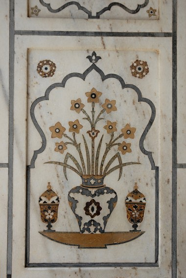 Inlay detail at Baby Taj entrance.