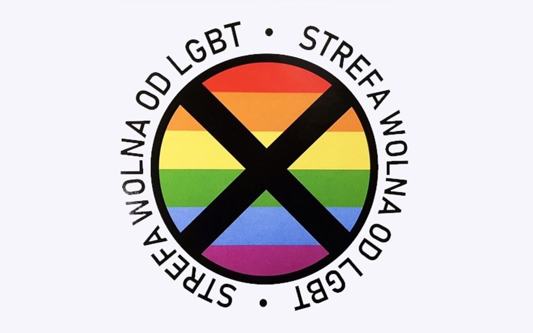 Anti-homo sticker in Polen