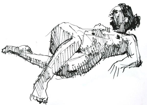 Marion en raccourci sur le dos bassin en torsion