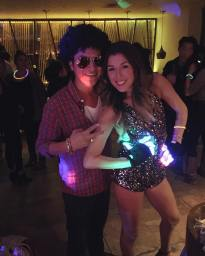 bruno mars look alike at kaylas 30th birthday party