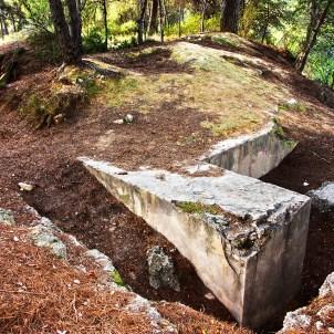 Trincheras de la Guerra Civil en el Parque Natural del Turia