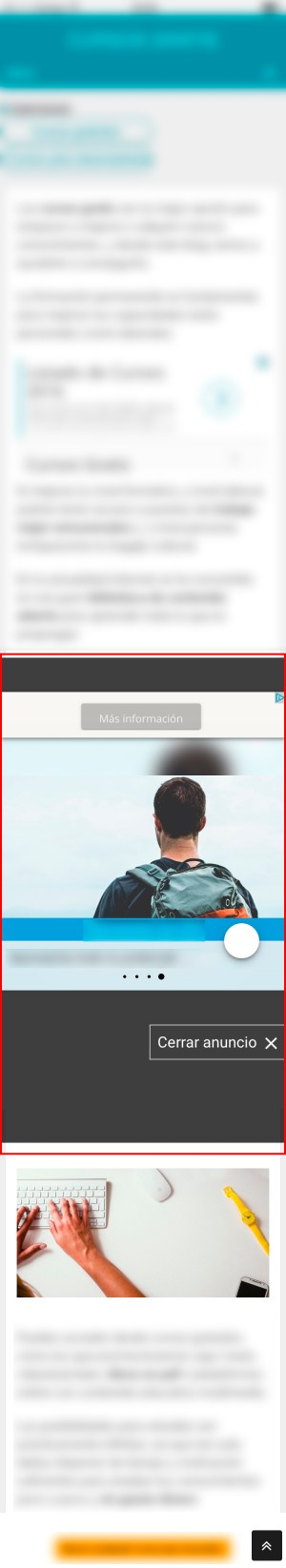 Anuncios inmersivos de AdSense para móviles