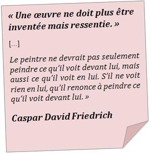 Analyse Dimage Caspar David Friedrich Le Voyageur