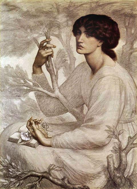 Dante Gabriel Rossetti_The_Day_Dream_1872-1878_3