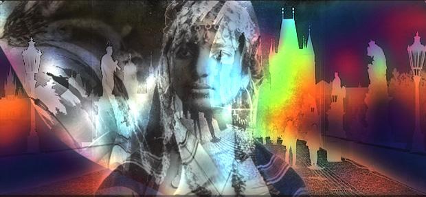 Bruno Rigolt_Photomontage_femme kabyle_Prague_2016