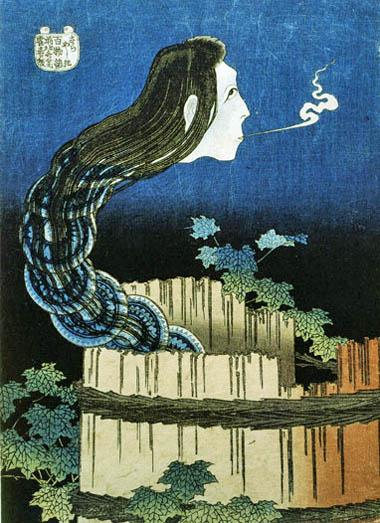 Hokusai_Le spectre aux assiettes