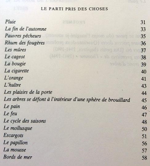 Ponge_Parti_pris_des_choses_table_des_matieres