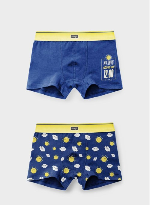 CALZONCILLOS BOXER MR WONDERFUL AZULES DAYS 48287