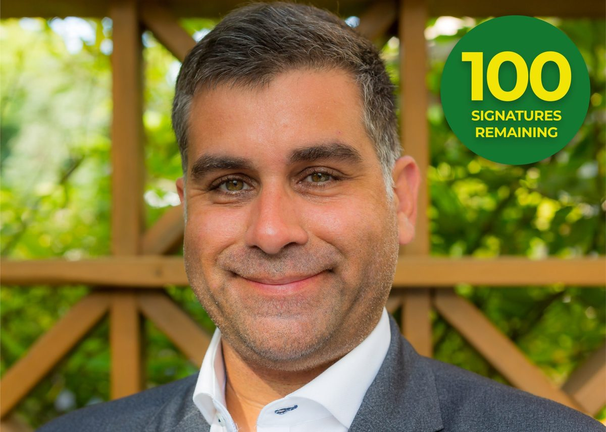 Bruno Sous 2021 Green Party Candidate - 100 Signatures Remaining