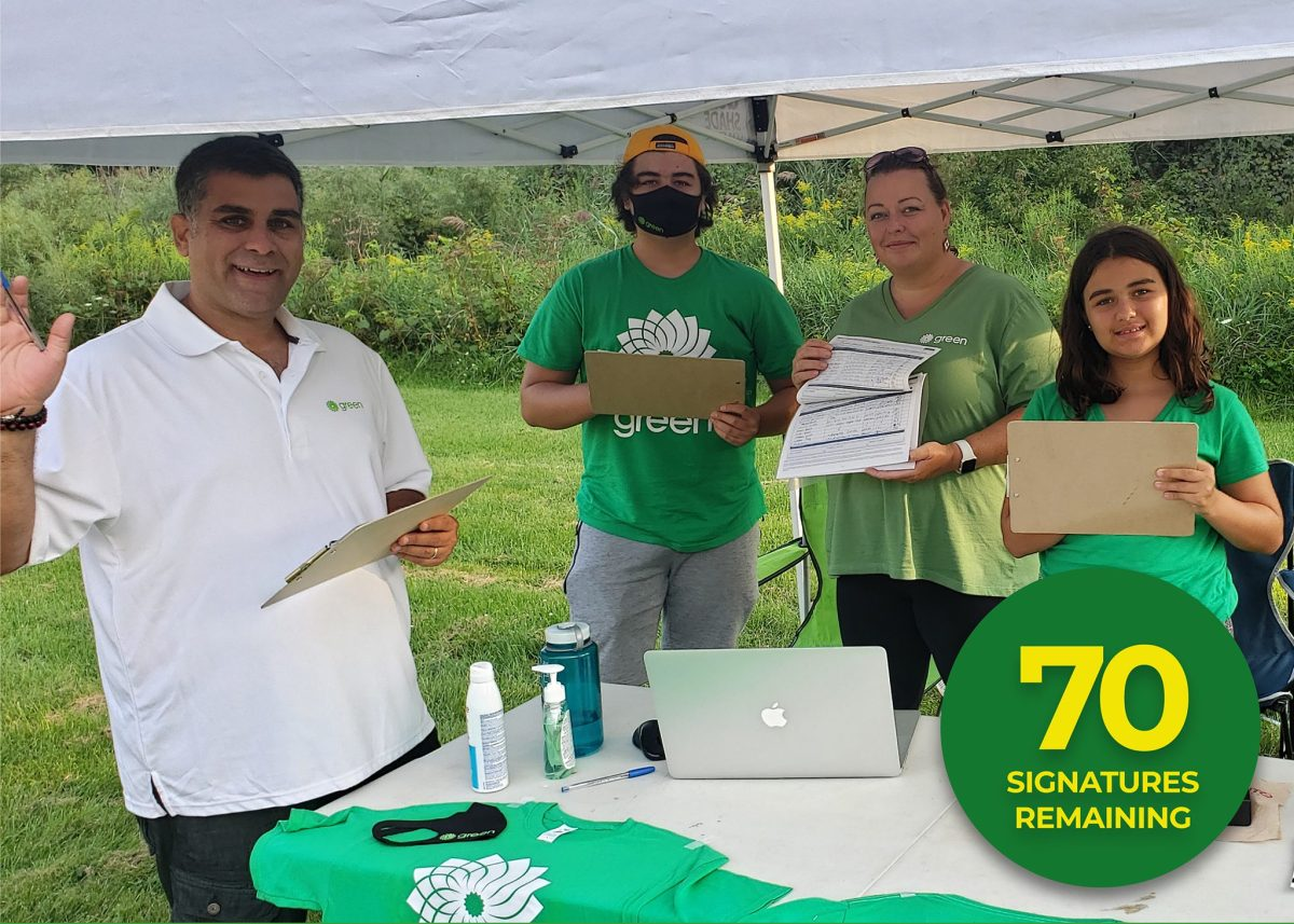 Bruno Sous 2021 Green Party Candidate - 70 Signatures Remaining