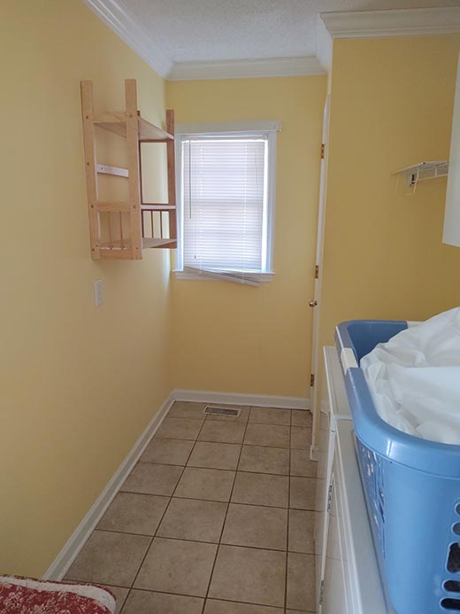 Existing Laundry Room Before Renovation