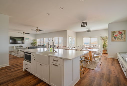Cabinets and countertops for kitchen island
