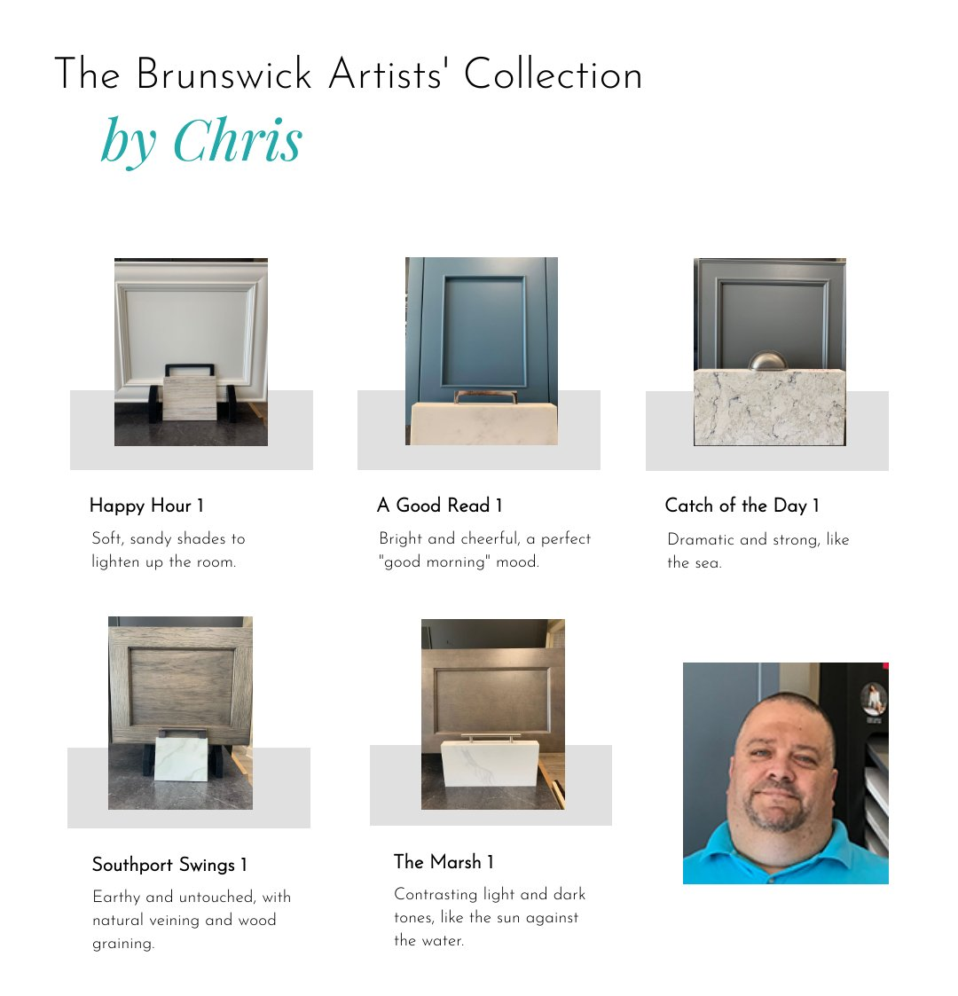 The Brunswick Artists Collection by Brunswick Cabinets and Countertops' Chris Gibson