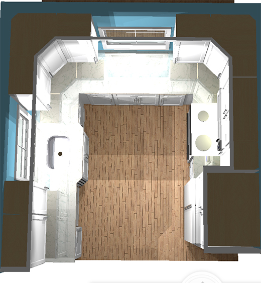 Kitchen Remodel 3D Rendering by Chris