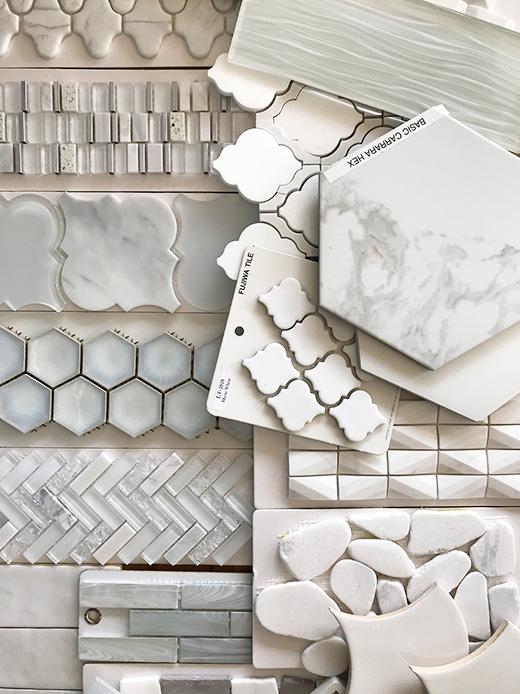 White Tile Bathroom Tile Ideas by Lauren