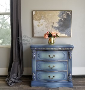 Blue and Gold Side Table
