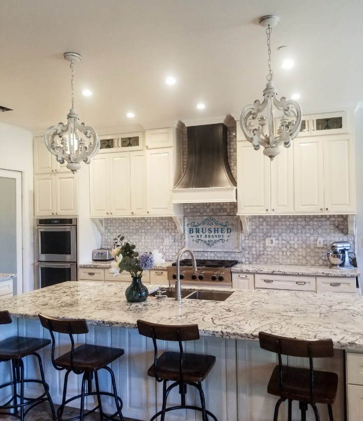 Finished Full Kitchen Remodel with DIY Painted Range Hood