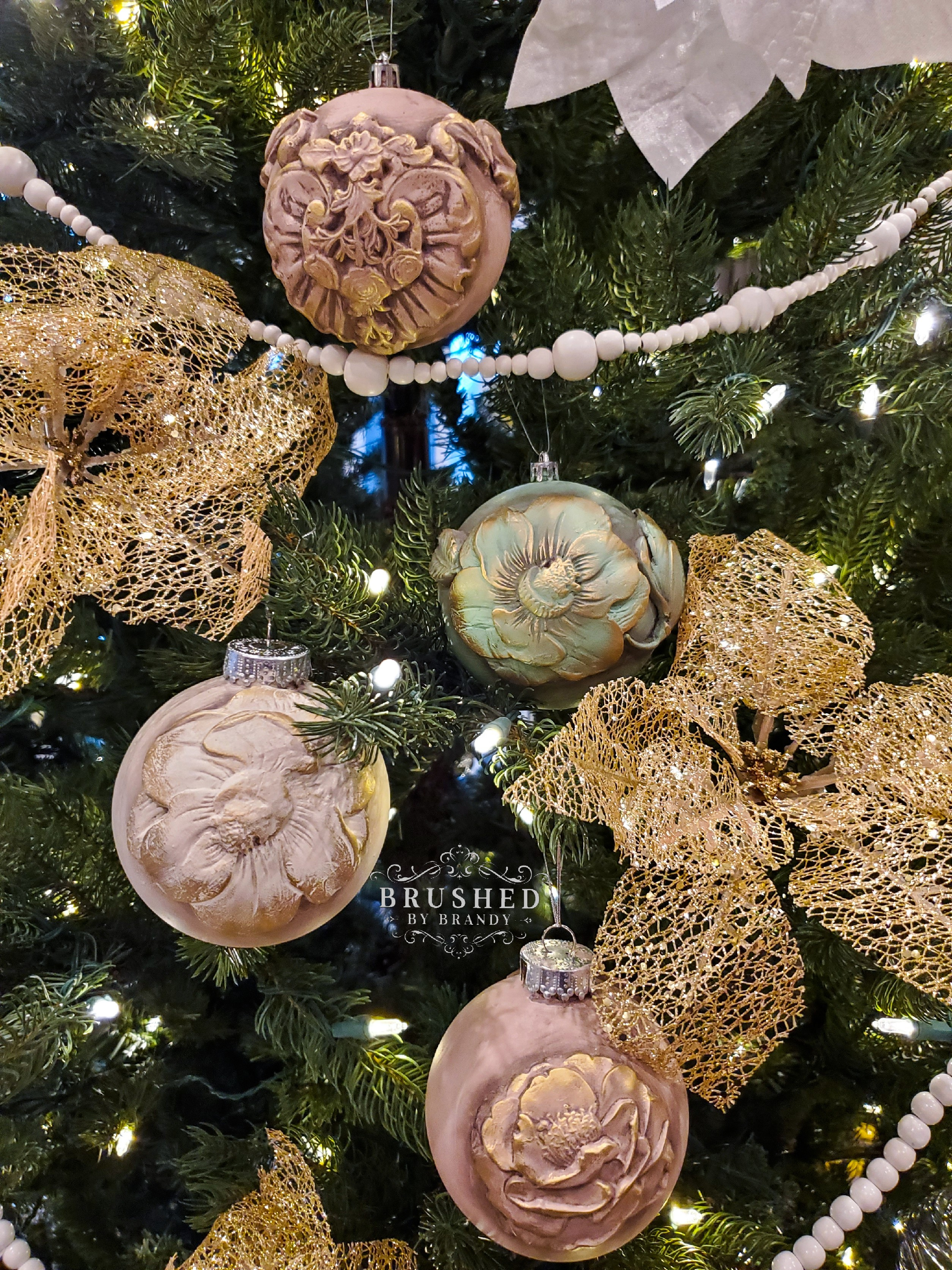 DIY Christmas Ornaments Brushed by Brandy