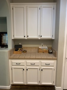AFTER My First Kitchen Cabinet Chalk Paint Makeover Brushed by Brandy