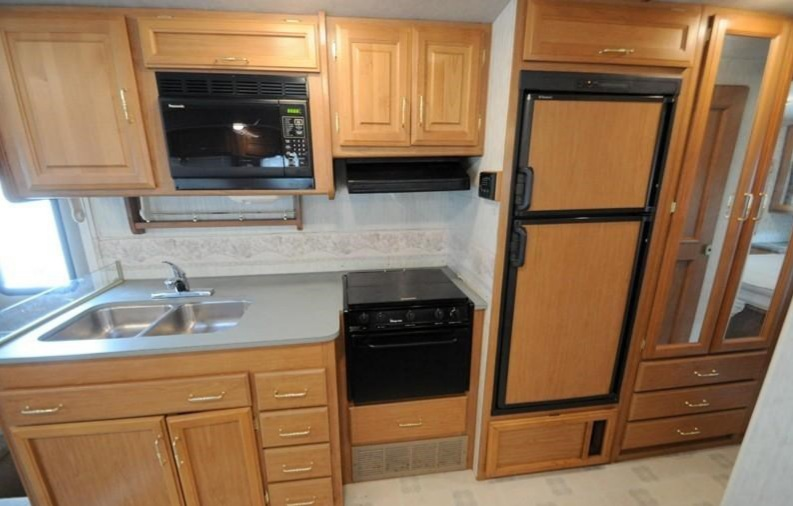 Painting RV Cabinets RV Makeover Before