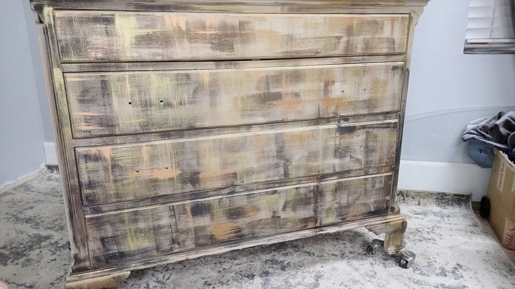 The Ugly Phase of this Toasted Marshmallow Paint Finish