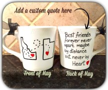 best friends new mug custom quote