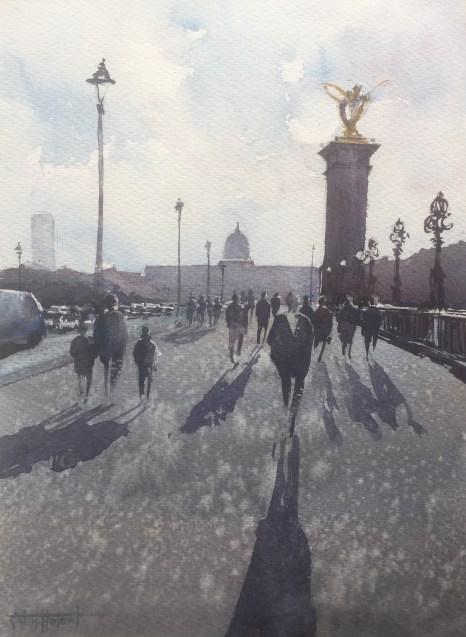 Shadows on Le Pont Alexandre III, Paris