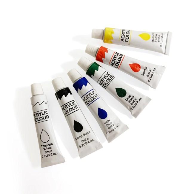 Mini Painting Set - Acrylic Color Paint