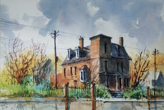 115_2016 Watercolor / CANSON / Montval Cold pressed - ca.40 x 30 cm / 15.7 x 11.8 in ´Brush Park 75´- Carsten Wieland