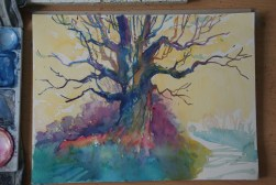 Step-by-step: Painting a colorful tree 02