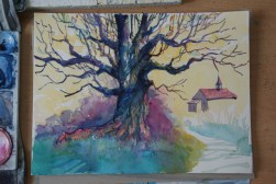 Step-by-step: Painting a colorful tree 04