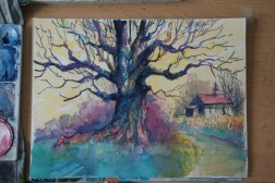 Step-by-step: Painting a colorful tree 06