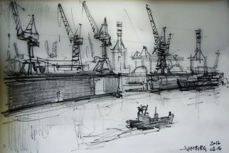 cw_pencil2016_011 / Leuchtturm 1917 notebook / 145 x 210 mm Value-sketch